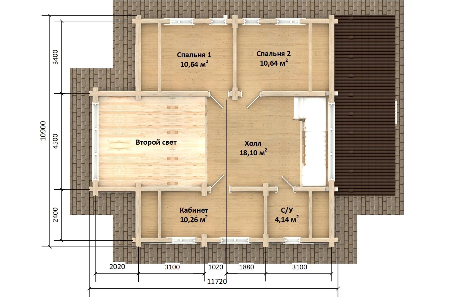 Фото #6: Красивый деревянный дом РС-170 из бревна