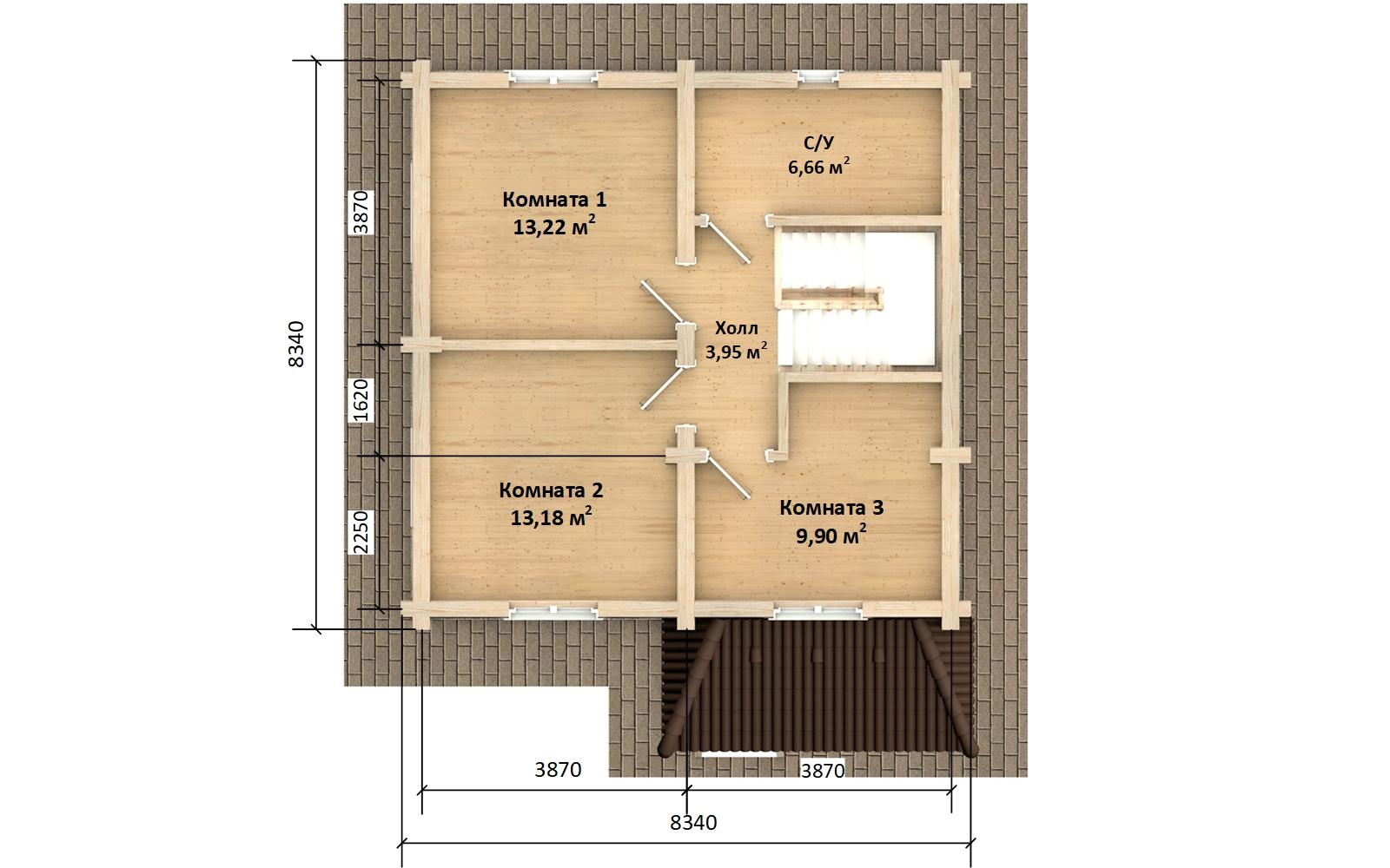 Фото #6: Красивый деревянный дом РС-149 из бревна
