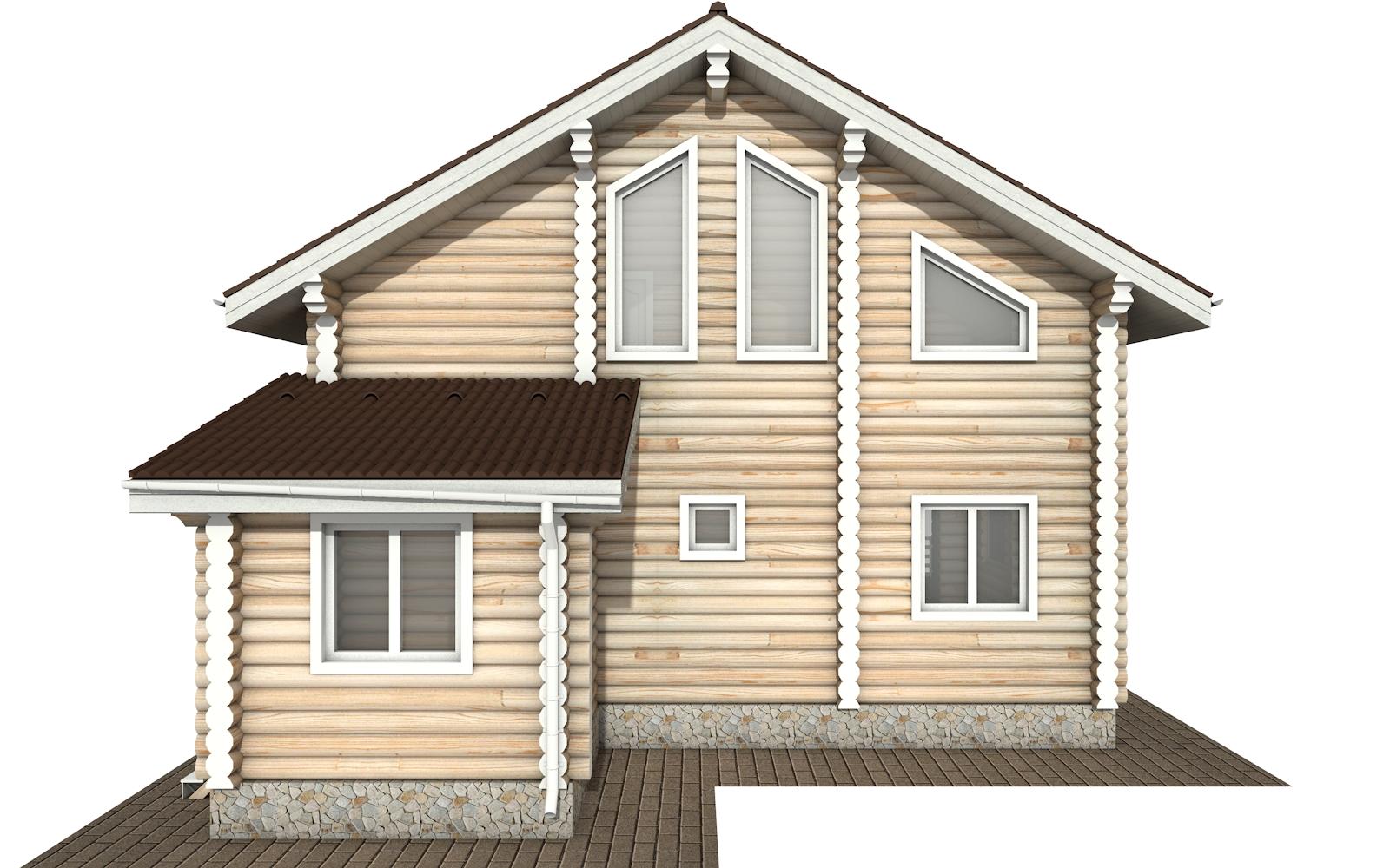 Фото #8: Красивый деревянный дом РС-146 из бревна