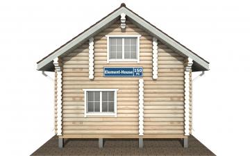 Фото #9: Красивый деревянный дом РС-150 из бревна