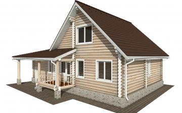 Фото #3: Красивый деревянный дом РС-151 из бревна