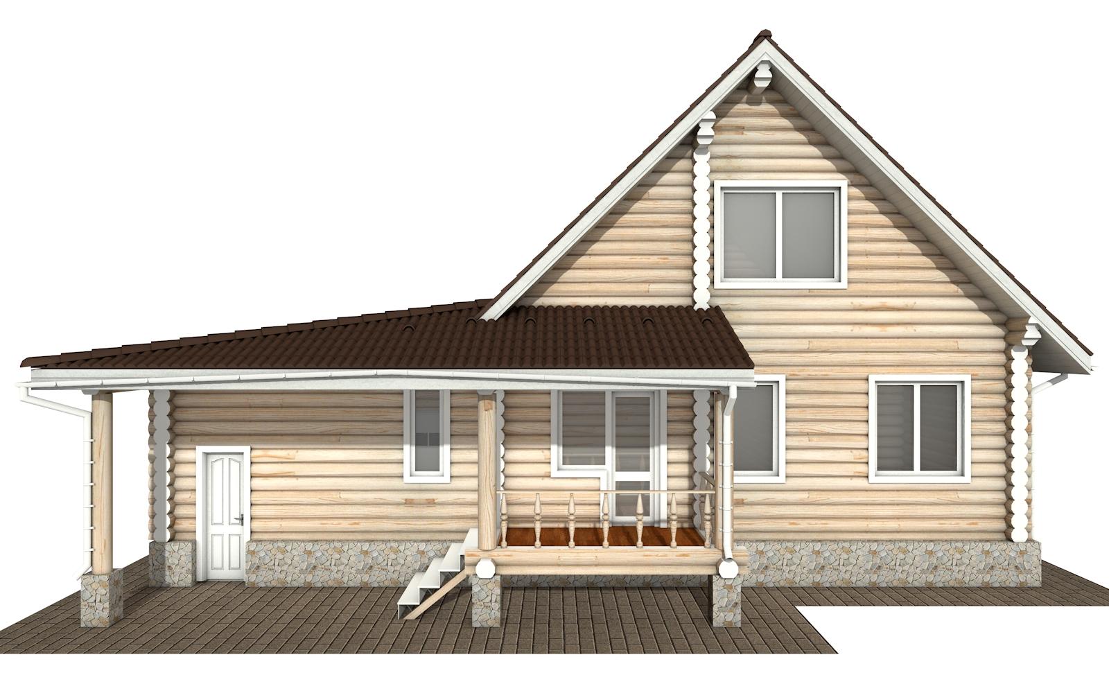 Фото #10: Красивый деревянный дом РС-151 из бревна