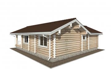 Фото #3: Красивый деревянный дом РС-152 из бревна
