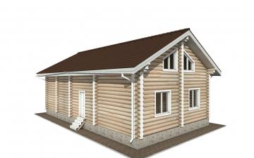 Фото #3: Красивый деревянный дом РС-153 из бревна