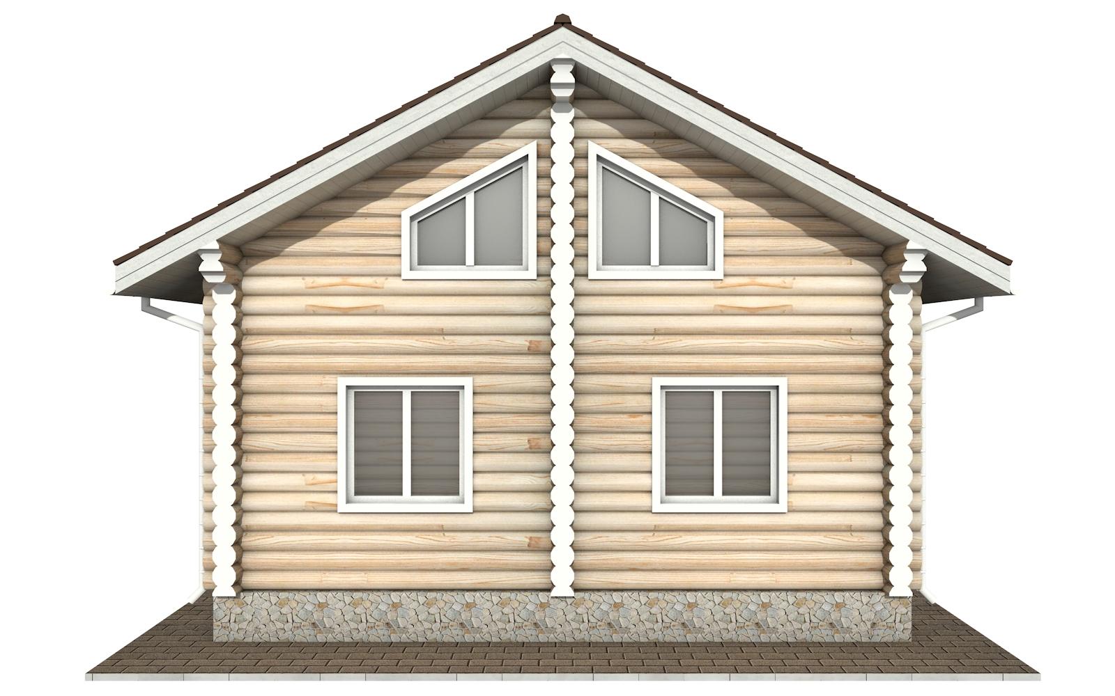 Фото #9: Красивый деревянный дом РС-153 из бревна