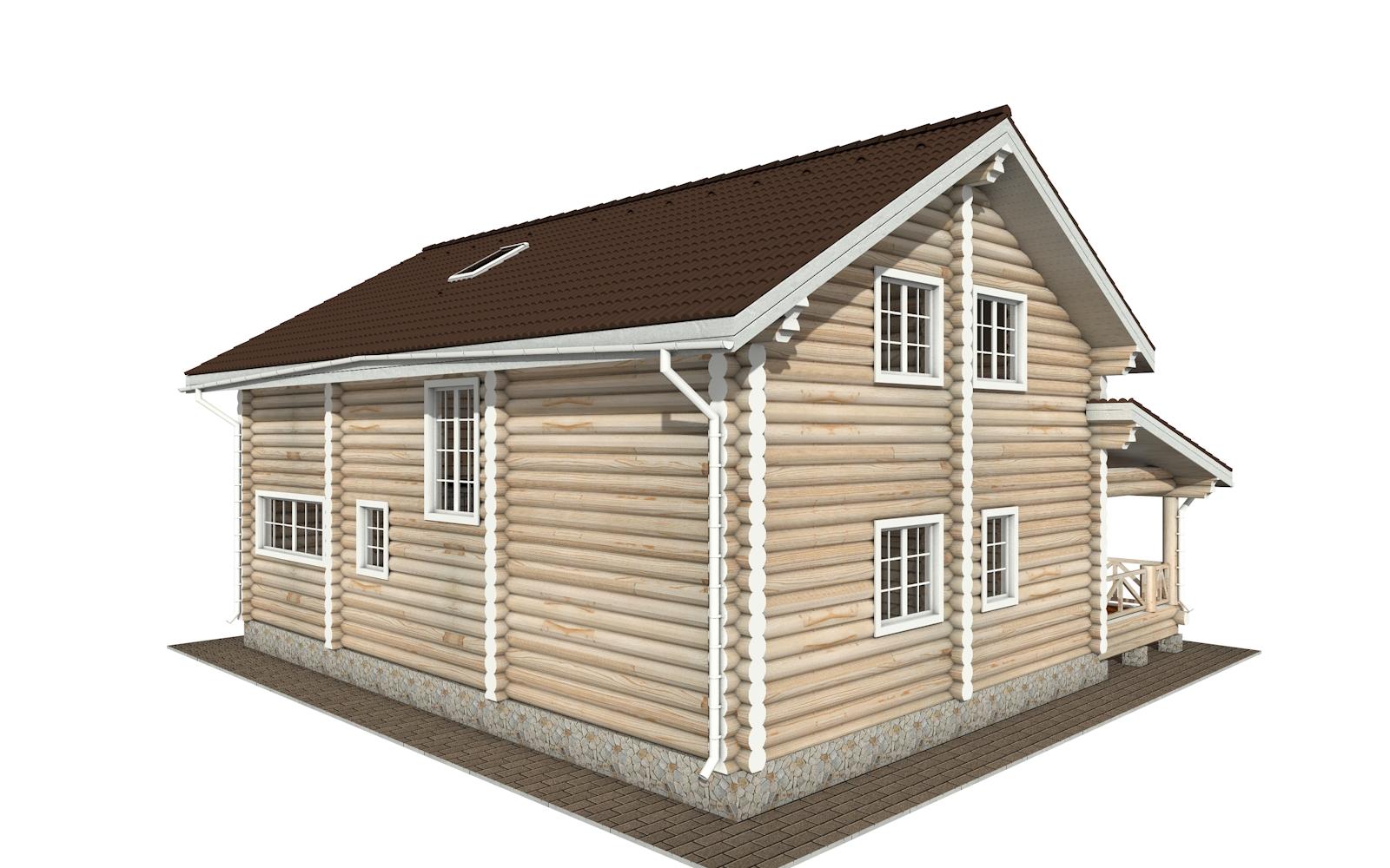 Фото #3: Красивый деревянный дом РС-154 из бревна