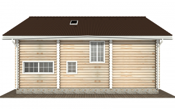 Фото #9: Красивый деревянный дом РС-154 из бревна