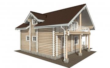 Фото #3: Красивый деревянный дом РС-155 из бревна