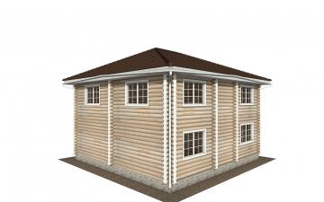 Фото #3: Красивый деревянный дом РС-147 из бревна
