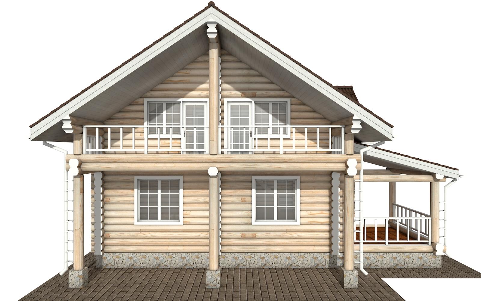 Фото #9: Красивый деревянный дом РС-155 из бревна