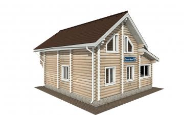 Фото #3: Красивый деревянный дом РС-156 из бревна