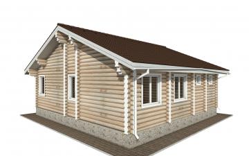 Фото #3: Красивый деревянный дом РС-157 из бревна