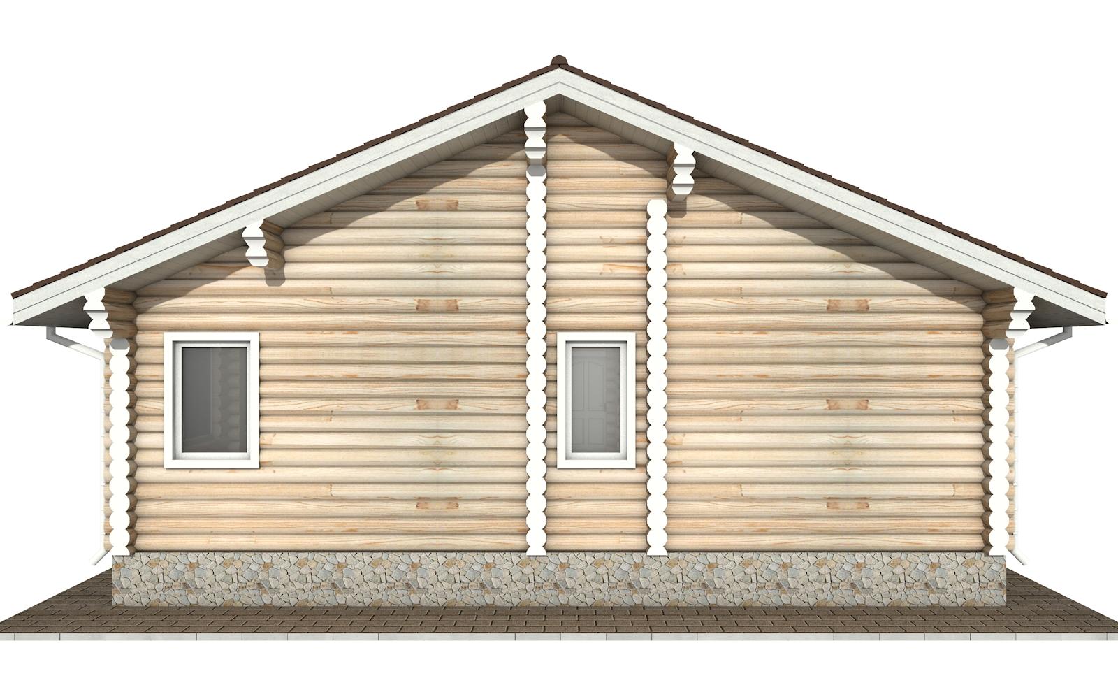 Фото #8: Красивый деревянный дом РС-157 из бревна