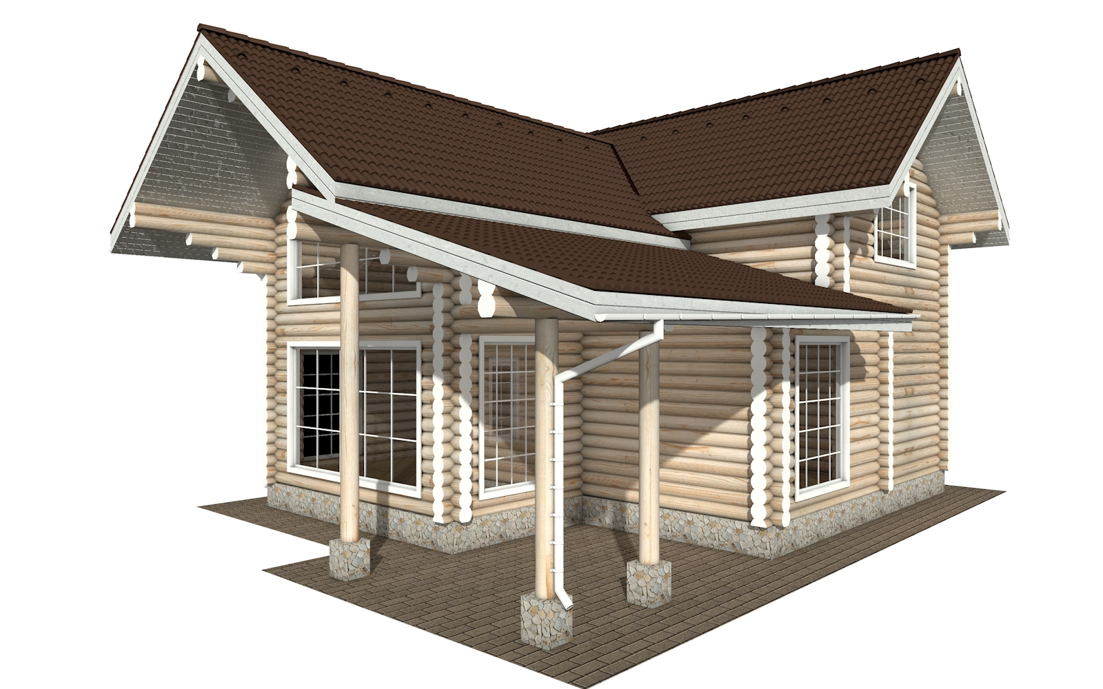 Фото #3: Красивый деревянный дом РС-158 из бревна