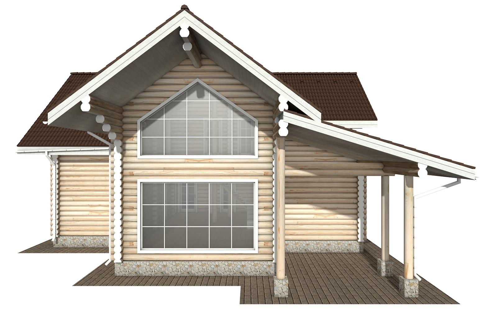 Фото #9: Красивый деревянный дом РС-158 из бревна