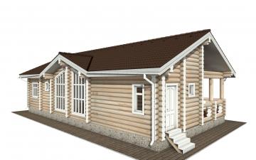 Фото #3: Красивый деревянный дом РС-160 из бревна