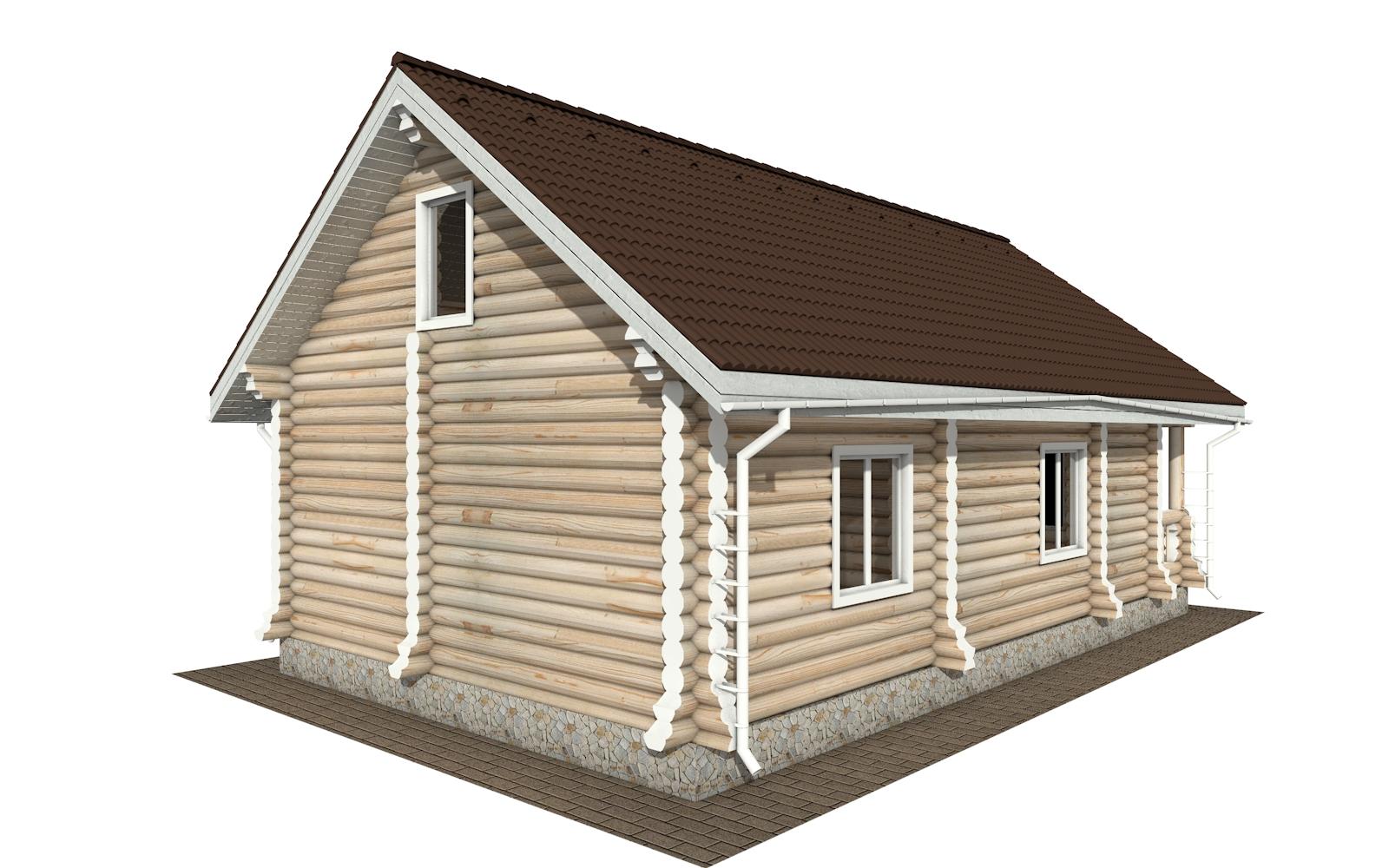 Фото #3: Красивый деревянный дом РС-161 из бревна