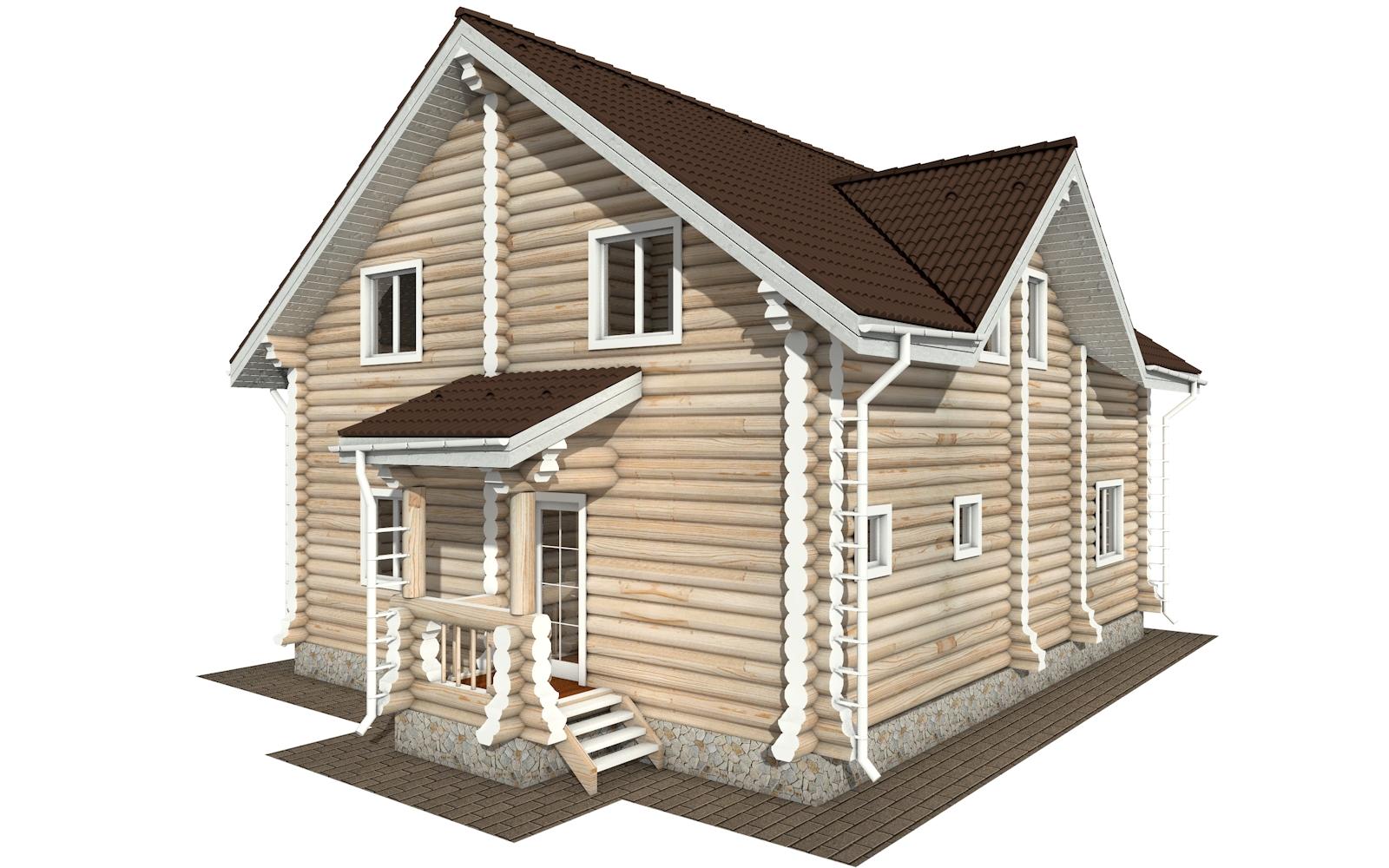 Фото #3: Красивый деревянный дом РС-162 из бревна