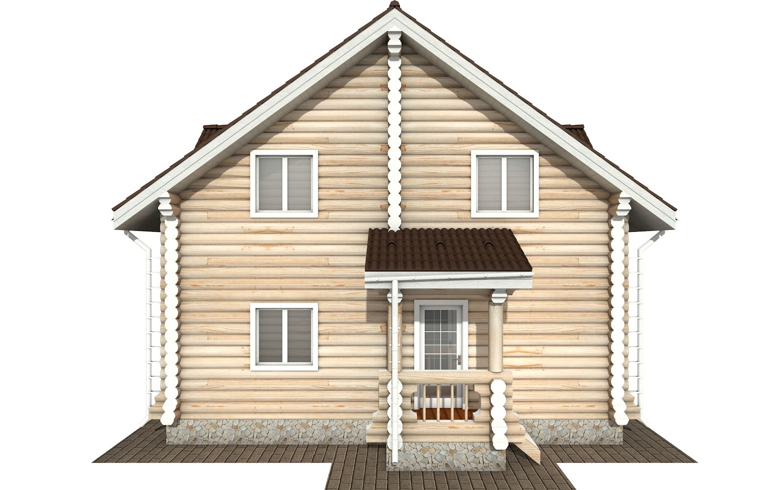 Фото #9: Красивый деревянный дом РС-162 из бревна