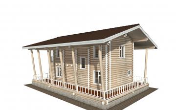 Фото #3: Красивый деревянный дом РС-163 из бревна