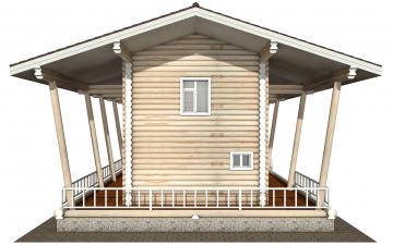 Фото #9: Красивый деревянный дом РС-163 из бревна