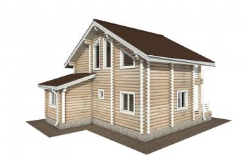 Фото #3: Красивый деревянный дом РС-146 из бревна