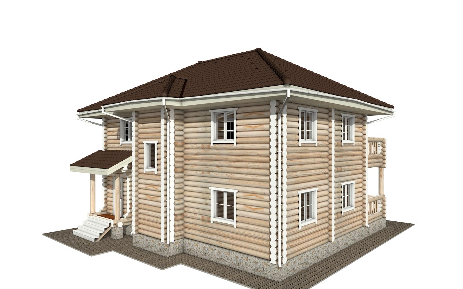 Фото #3: Красивый деревянный дом РС-164 из бревна