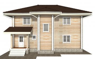 Фото #9: Красивый деревянный дом РС-164 из бревна