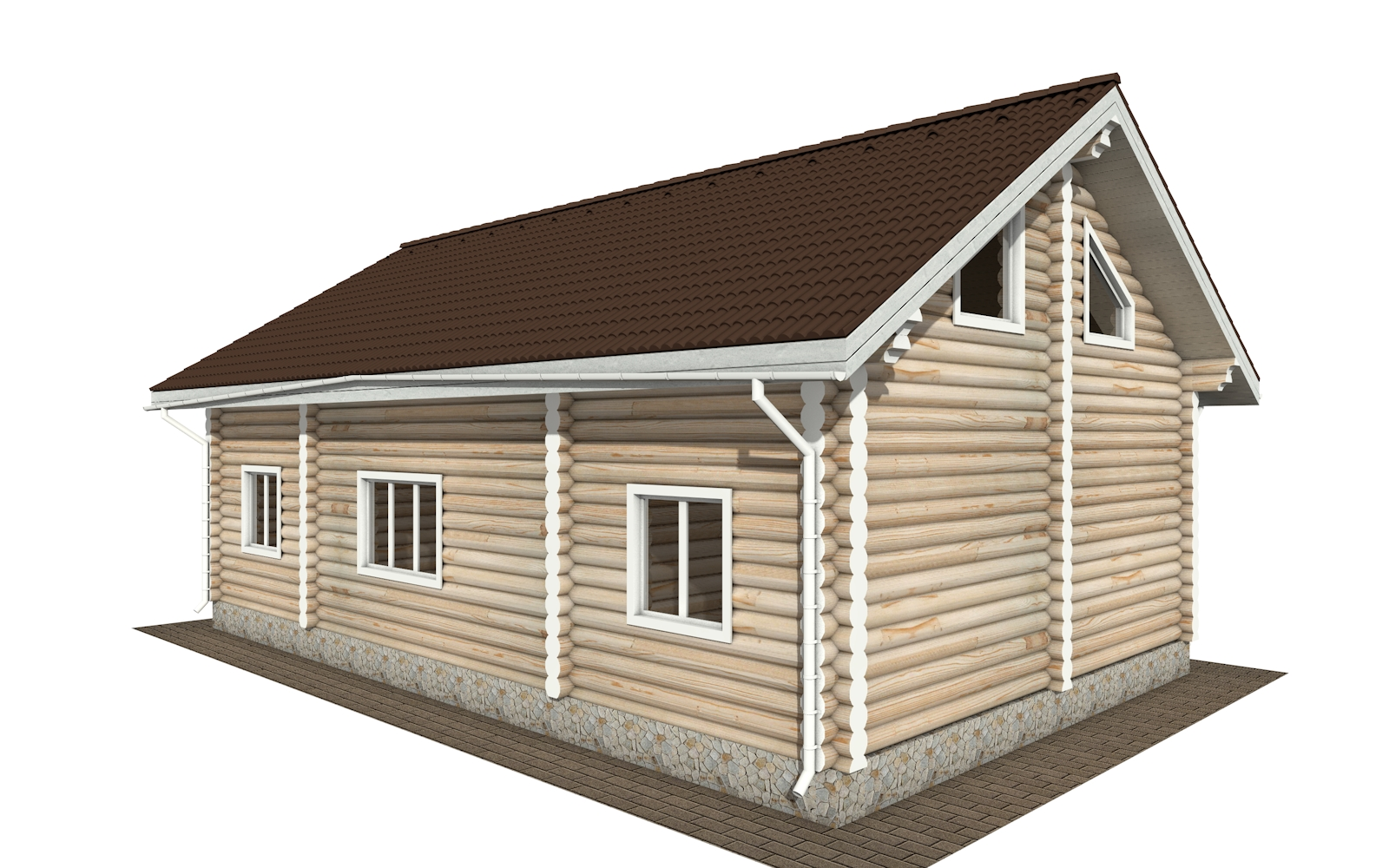Фото #3: Красивый деревянный дом РС-166 из бревна