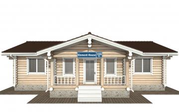 Фото #9: Красивый деревянный дом РС-166 из бревна