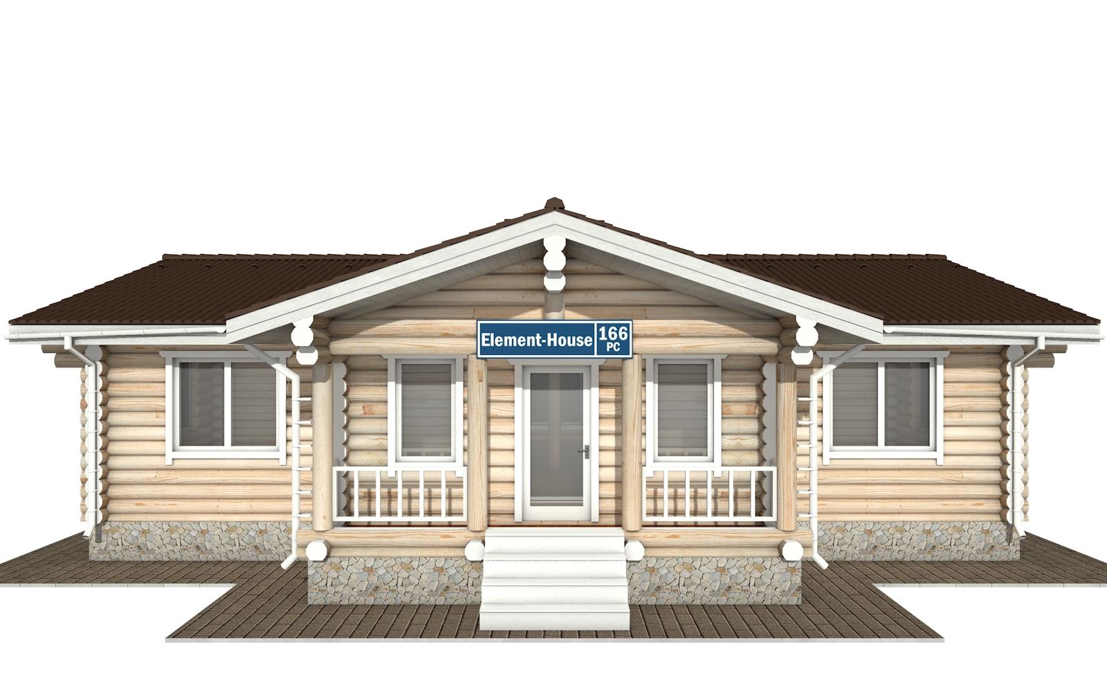 Фото #8: Красивый деревянный дом РС-166 из бревна
