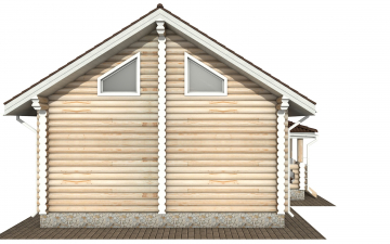 Фото #9: Красивый деревянный дом РС-165 из бревна