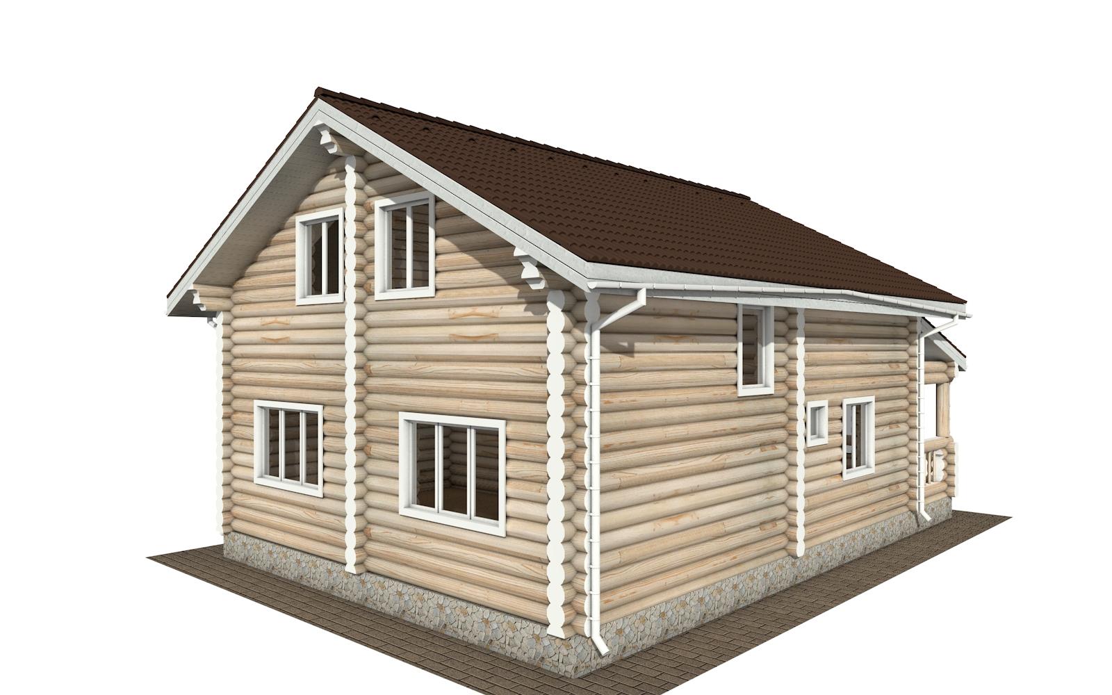 Фото #3: Красивый деревянный дом РС-167 из бревна