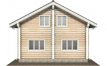 Фото #9: Красивый деревянный дом РС-167 из бревна