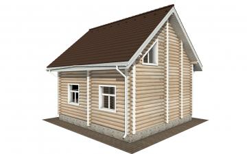 Фото #3: Красивый деревянный дом РС-168 из бревна