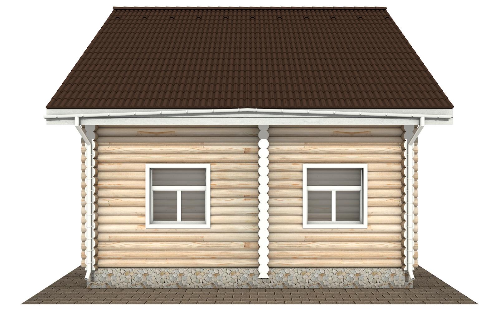 Фото #9: Красивый деревянный дом РС-168 из бревна