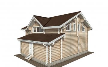 Фото #3: Красивый деревянный дом РС-170 из бревна