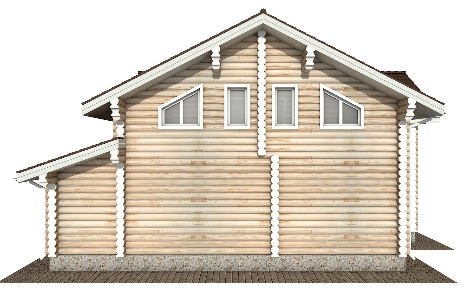 Фото #9: Красивый деревянный дом РС-170 из бревна