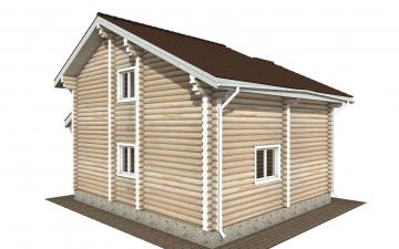 Фото #3: Красивый деревянный дом РС-176 из бревна