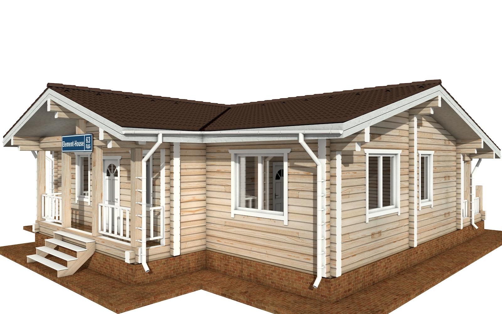 Фото #3: деревянный дом ПДБ-63 из клееного бруса купить за 8979351 (цена «Под ключ»)