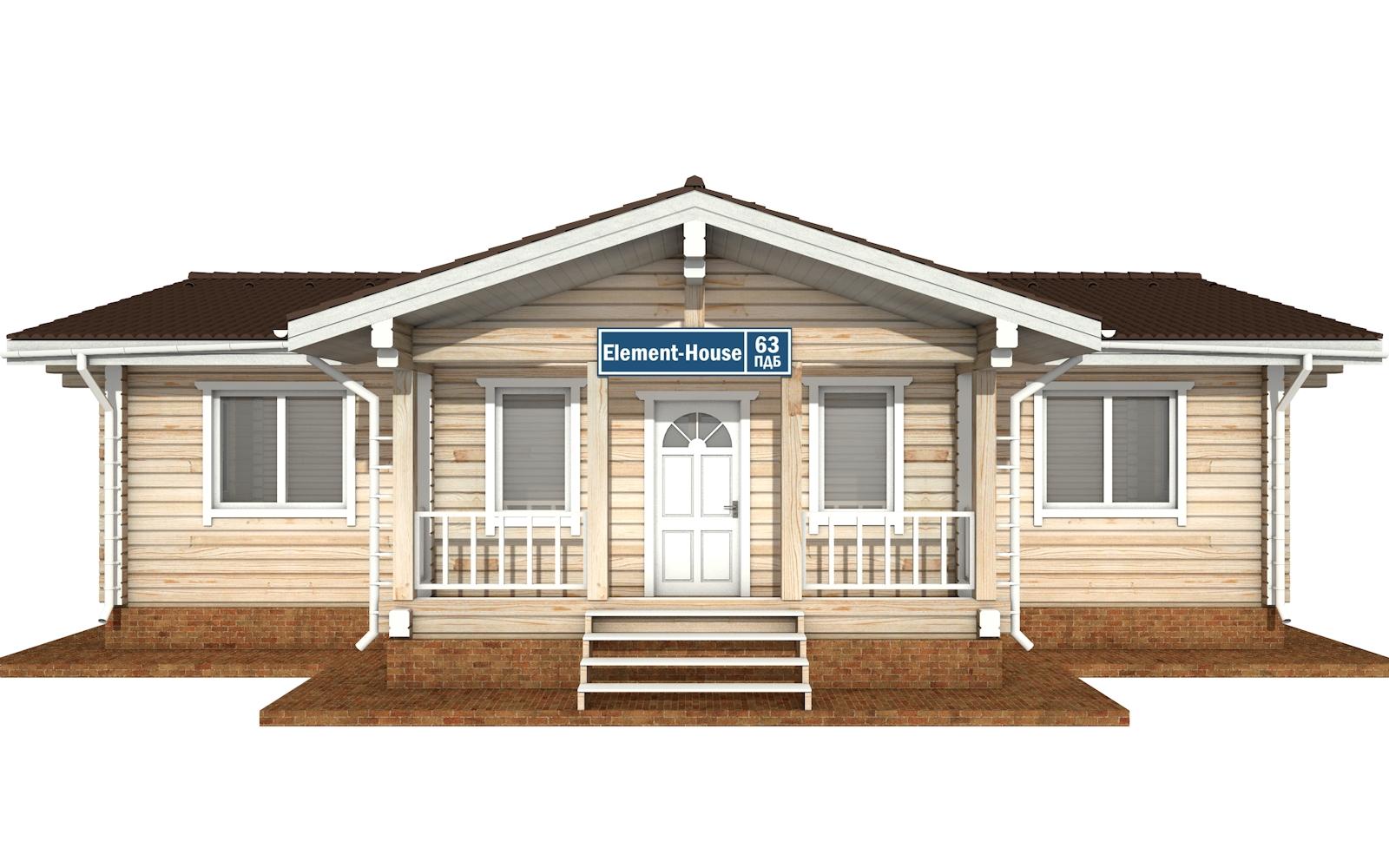 Фото #8: деревянный дом ПДБ-63 из клееного бруса купить за 8979351 (цена «Под ключ»)