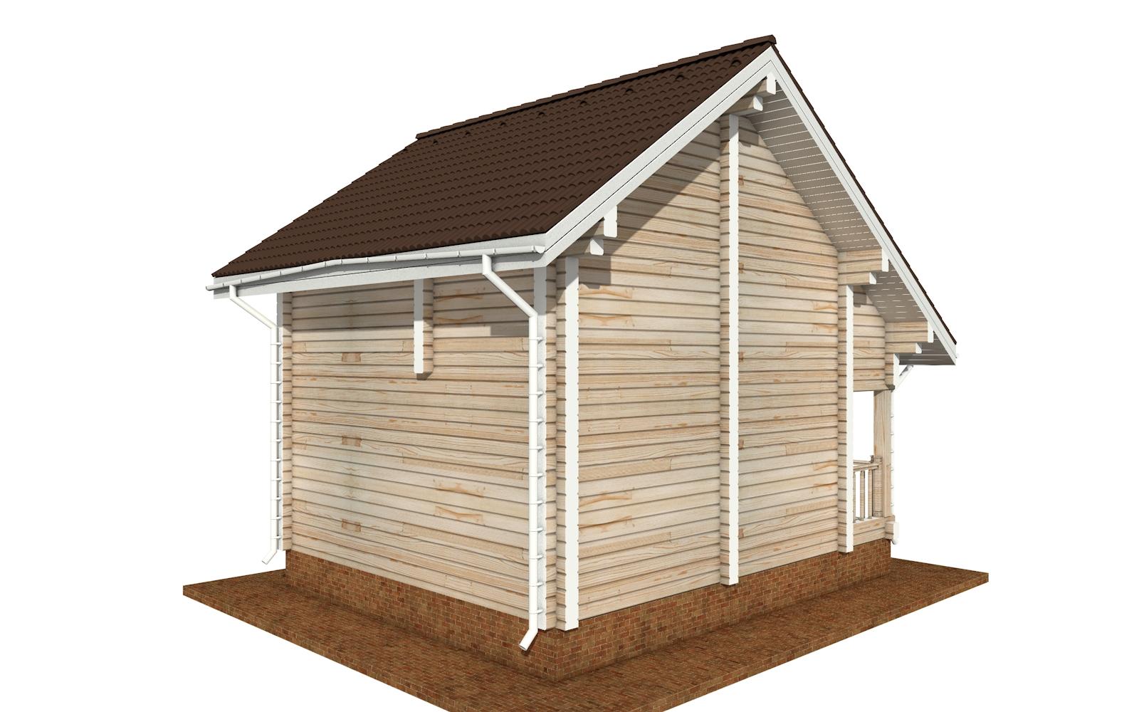 Фото #3: деревянный дом ПДБ-64 из клееного бруса купить за 7080194 (цена «Под ключ»)