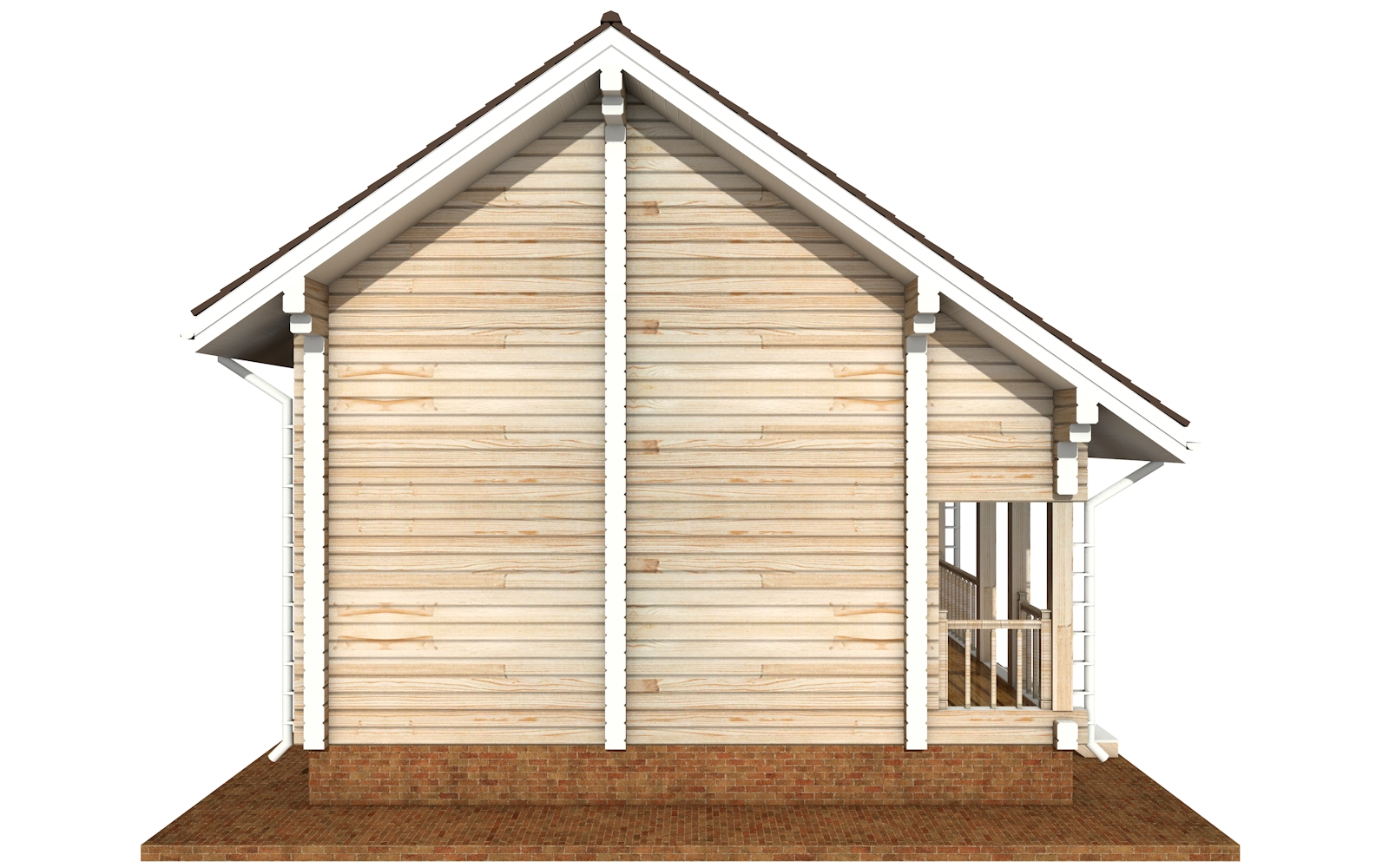 Фото #9: деревянный дом ПДБ-64 из клееного бруса купить за 7080194 (цена «Под ключ»)
