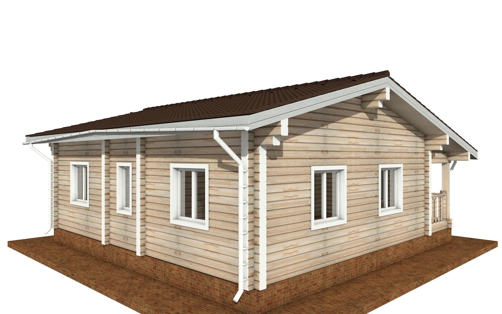 Фото #3: деревянный дом ПДБ-65 из клееного бруса купить за 8011498 (цена «Под ключ»)