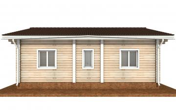 Фото #9: деревянный дом ПДБ-65 из клееного бруса купить за 8011498 (цена «Под ключ»)