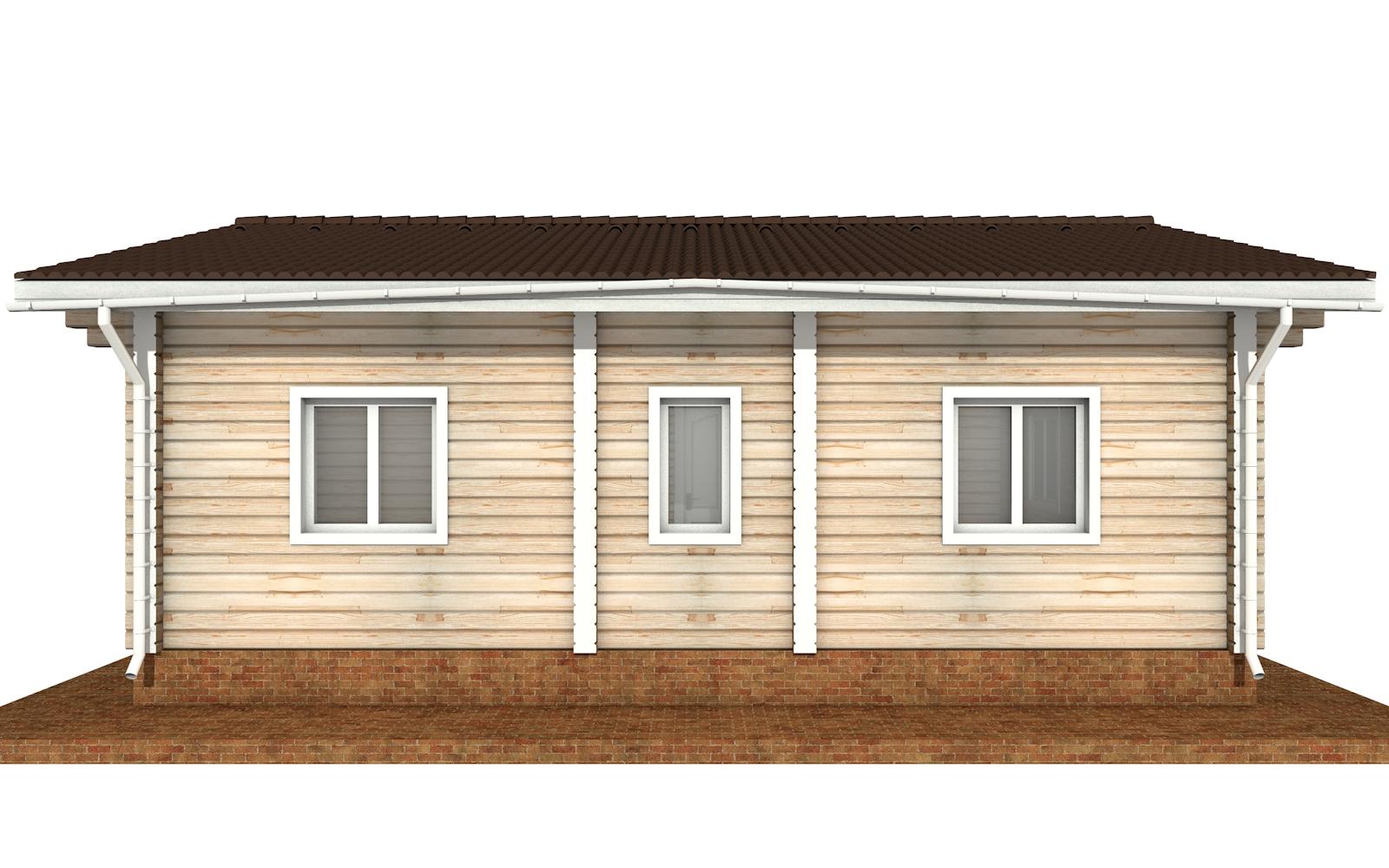 Фото #8: деревянный дом ПДБ-65 из клееного бруса купить за 8011498 (цена «Под ключ»)