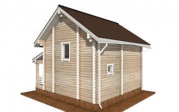 Фото #3: деревянный дом ПДБ-66 из клееного бруса купить за 8077921 (цена «Под ключ»)