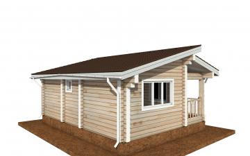 Фото #3: деревянный дом ПДБ-67 из клееного бруса купить за 4301693 (цена «Под ключ»)