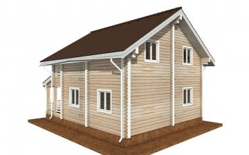Фото #3: деревянный дом ПДБ-68 из клееного бруса купить за 10596603 (цена «Под ключ»)