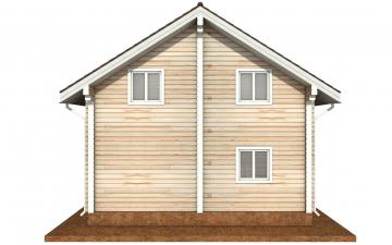 Фото #9: деревянный дом ПДБ-68 из клееного бруса купить за 10596603 (цена «Под ключ»)